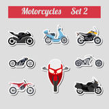 Set of elements motorcycles for creating your own infographics o Stock Images