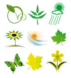 Set of elements of nature Stock Images