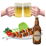 Beer set vector royalty free illustration