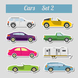 Set of elements passenger cars for creating your own infographic Stock Images