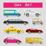 Set of elements passenger cars for creating your own infographic Royalty Free Stock Photography