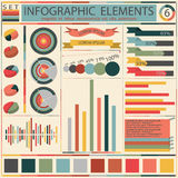 Set elements of retro infographics. Vector Royalty Free Stock Images