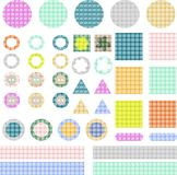 Set of elements for scrapbook isolated Stock Photos