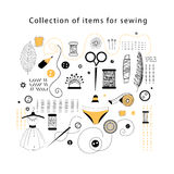 Set elements for sewing Stock Image