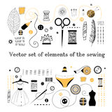 Set elements for sewing Royalty Free Stock Image