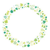 Set of elements of spring. Royalty Free Stock Photo