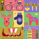 Set elements of Sweden Royalty Free Stock Photo