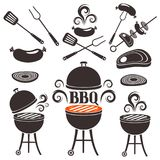 Set of elements on a theme of barbecue. Set of elements for design on a theme of barbecue vector illustration