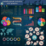 Set of elements and tools of metallurgical industry for creating Stock Images