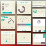 Set elements used for user interface. light Stock Images