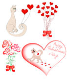 Set of elements for Valentine Royalty Free Stock Photography