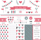 Set of elements for wedding design. save the date. Royalty Free Stock Photo
