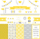 Set of elements for wedding design. save the date. Royalty Free Stock Photography