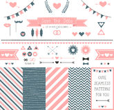 Set of elements for wedding design. save the date. Stock Images