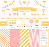 Set of elements for wedding design. save the date. Stock Image