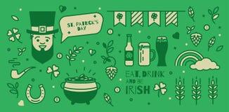 set elementy dla St Patrick dnia Fotografia Royalty Free