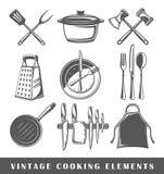 Set elementy kucharstwo ilustracja wektor