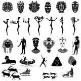 Set elementy od szaman masek, postacie dla wystawiać trad Obraz Royalty Free