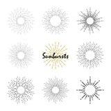 Set elementy słońca ` s promienie Obraz Stock