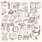 Set elemets praca w biurze Obrazy Stock