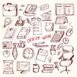 Set of elemets of work in office Stock Images