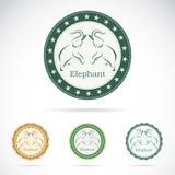 Set of  elephant label Royalty Free Stock Images