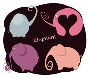 Set elephants Stock Photo
