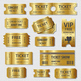 Set of eleven vector tickets and coupons templates Stock Images