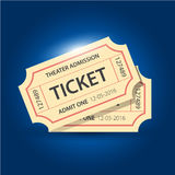 Set of eleven vector tickets and coupons templates Royalty Free Stock Image