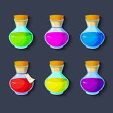 Set of elixirs icon vector illustration Royalty Free Stock Photos
