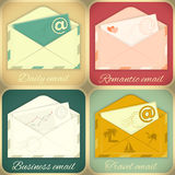 Set of Email Concept Royalty Free Stock Photo