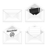 Set of email icon. Collection of four email icons Stock Photography