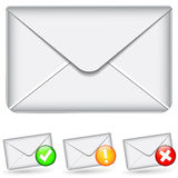 Set of email icons Royalty Free Stock Image