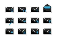 Set of email icons Royalty Free Stock Photo