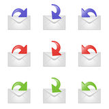 Set of email signs Stock Image