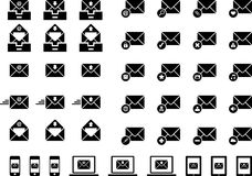 Set of email web icons Royalty Free Stock Image