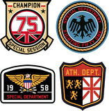 Set of emblem badge shield. Set of classic emblem badge shield Royalty Free Illustration