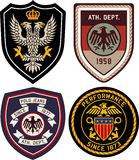 Set of emblem badge shield Royalty Free Stock Photo