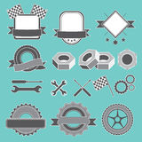 Set of emblem, logotype for mechanic, garage, car repair, service Stock Images