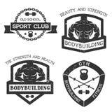Set emblemat sprawność fizyczna i bodybuilding Zdjęcia Stock