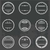 Set of emblems and badges Stock Photography