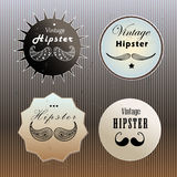 Set of emblems hipster Stock Image