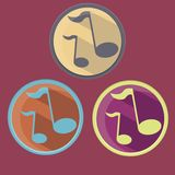 Set of emblems with notes royalty free illustration