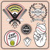 Set of emblems and signs for baseball. Set of vector emblems and signs for baseball Stock Photography