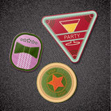 Set of embroidered emblems-chevrons Stock Photography