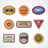 Set of embroidered emblems-chevrons Royalty Free Stock Photo