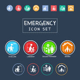 Set of emergency icon. With some style Royalty Free Stock Photography