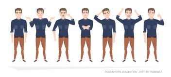 Set emocje dla biznesowego mężczyzna Zdjęcie Royalty Free