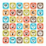 Set emocjonalne ikony Zdjęcie Stock
