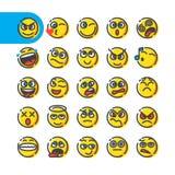 Set of emoji bubble emoticons Royalty Free Stock Image